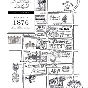 Map Of Deland Florida.Erica Group Designs Custom Art Gifts Stationery In Deland Florida
